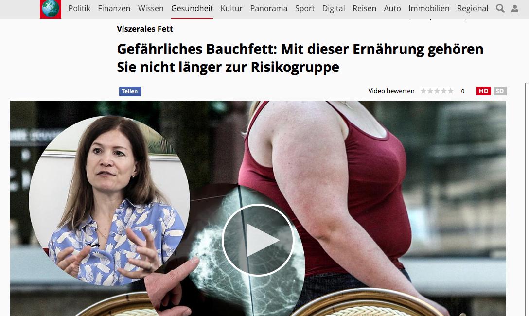 Gefährliches Bauchfett Focus Interview