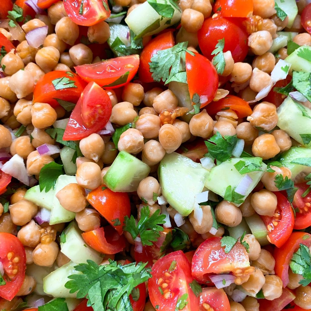 Kichererbsen-Tomatensalat
